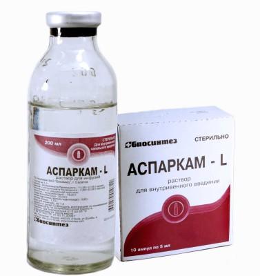 Описание препарата Аспаркам