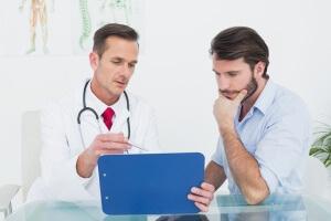У мужчины проблема характеризуется набором симптомов