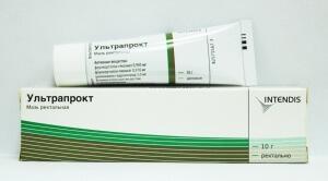 Свечи Ультрапрокт является комбинированным препаратам