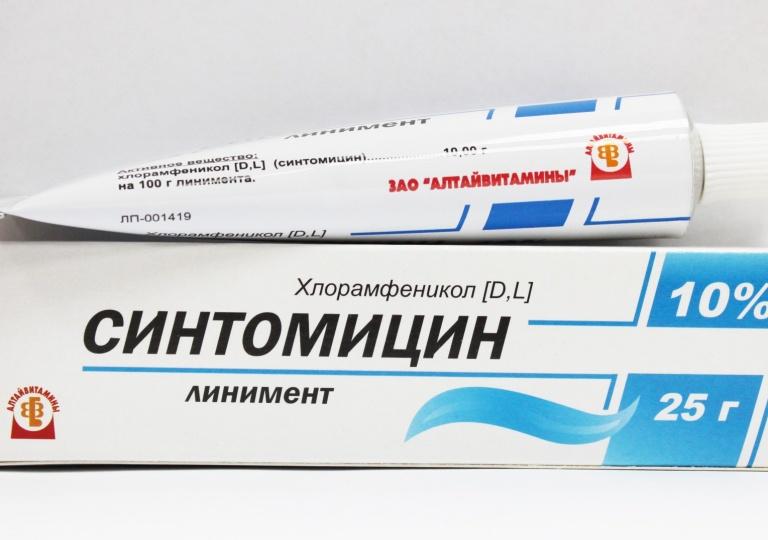 Линимент синтомицина фурункул